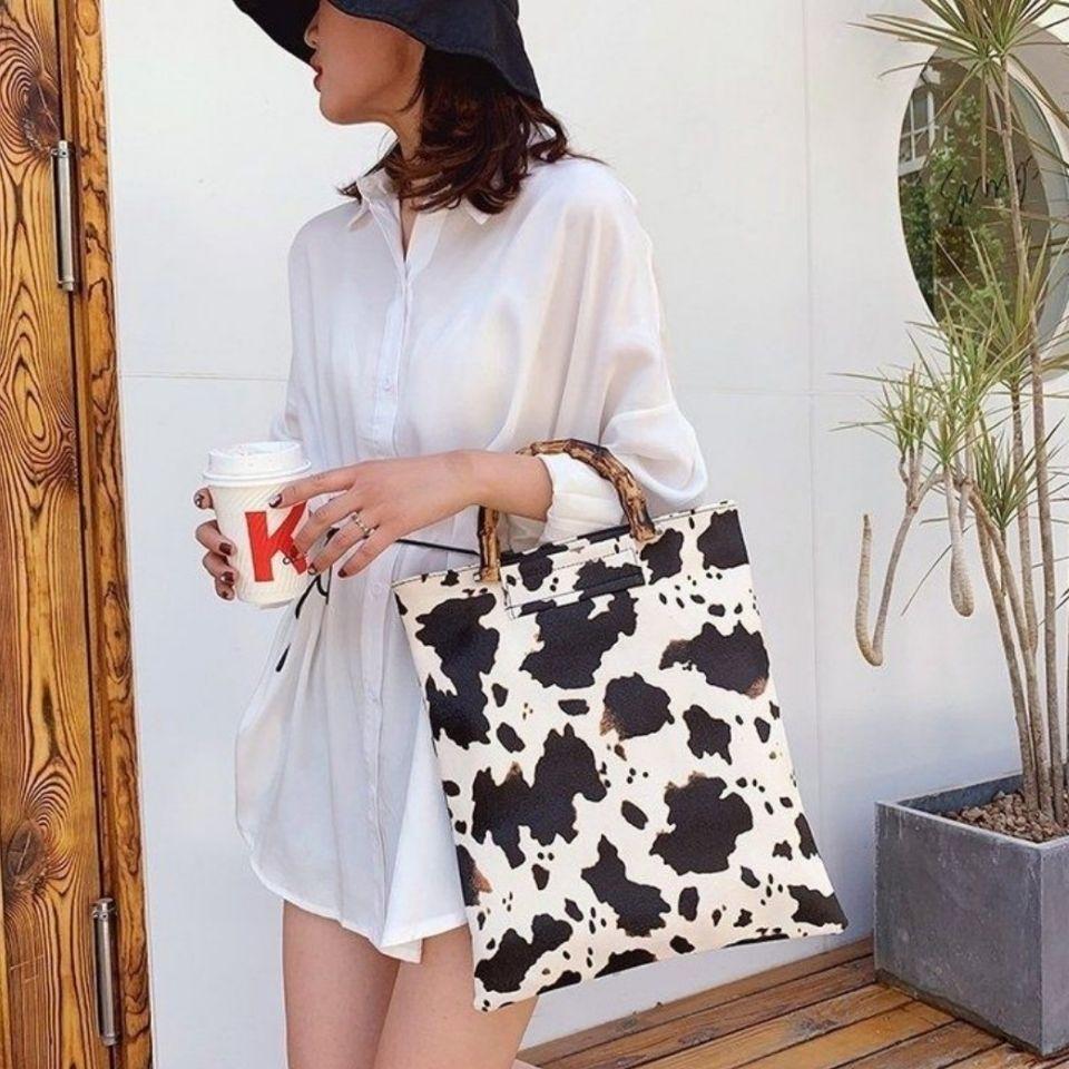 韩版新潮竹节手提包文件包时尚潮流网红包
