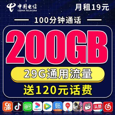 电信卡流量卡无限卡大王卡4g纯流量上网卡手机卡电话卡5g全国通用