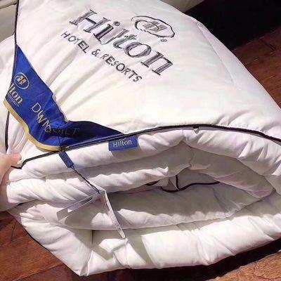 爆款希尔顿酒店被子羽绒羽丝绒被大豆纤维被秋冬保暖棉被厂家直销