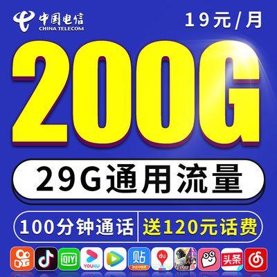 电信流量卡无限流量4g手机0月租大王卡纯上网卡不限速5g全国通用