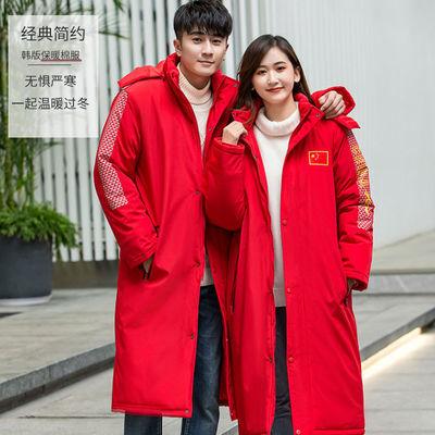 啄木鸟2020冬季新款韩版棉衣长款过膝运动棉服休闲男女装情侣外套