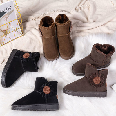 2020冬季新款加厚加绒防滑中筒雪地靴女款时尚学生保暖短靴棉鞋