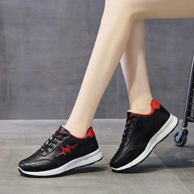 女鞋者板20新款潮皮黑色椰子网透气红秋冬季天运动年单软底内小白