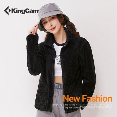 KingCamp抓绒衣2020秋冬新款男女摇粒绒外套加厚保暖双面绒开衫