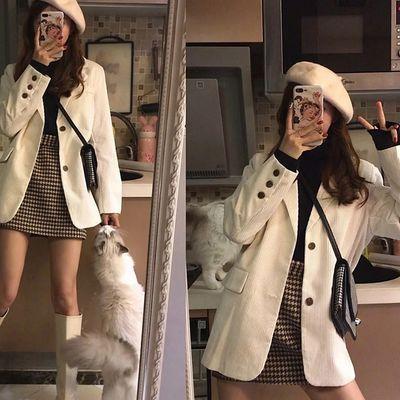 套装西装矮个子气质御姐职业韩版小西装裙子秋冬季两件套装女初秋