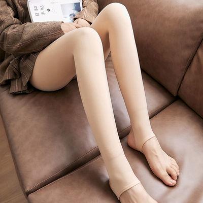 2020秋冬季外穿加绒加厚打底裤一体裤高腰光腿神器肤色女踩脚裤袜