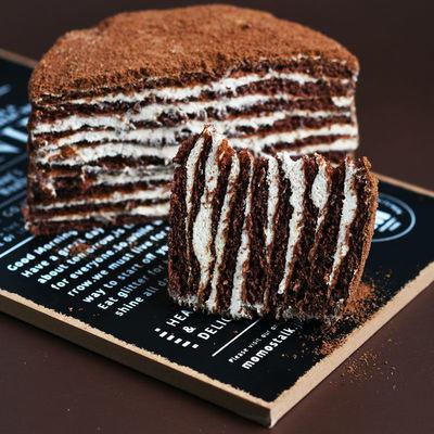 俄罗斯双山风味提拉米苏蛋糕网红甜品千层巧克力奶油糕点休闲零食