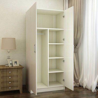 衣柜实木简约现代经济型柜子定做两门组装简易家用卧室小衣橱定制