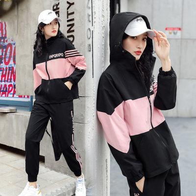 休闲套装女2020秋季新款韩版宽松夏显瘦学生潮牌时尚运动服两件套