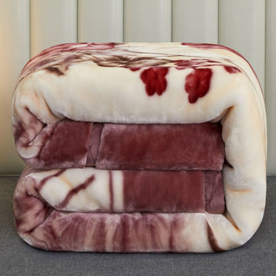 38803/双层加厚拉舍尔毛毯冬季婚庆盖毯单双人被子床单珊瑚绒宿舍学生毯