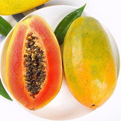 【请催熟食用】新鲜红心牛奶木瓜3斤装 单果400g+新鲜水果
