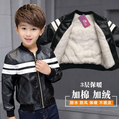 童装加绒皮衣外套2020新品中大童机车服儿童夹克潮男童小夹克外套