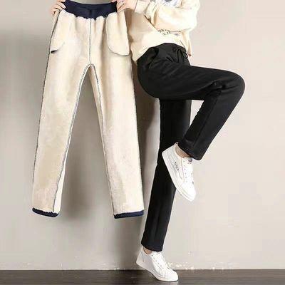 黑色休闲裤子女士秋冬季大码韩版宽松显瘦加绒直筒裤女百搭铅笔裤