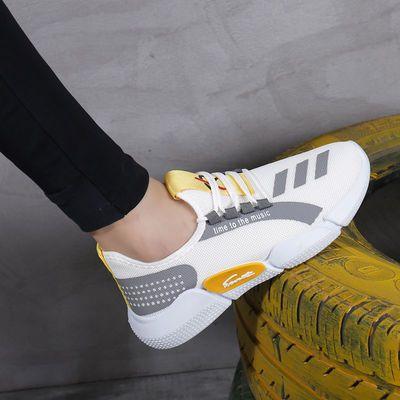 新款男士秋季软底休闲百搭韩版潮流透气网面学生运动跑步鞋男鞋