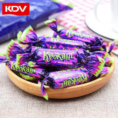 KDV俄罗斯进口紫皮糖180g*3袋巧克力礼物糖果零食批发过年新年货