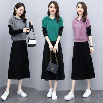 单件/套装裙两件套2020年新款时尚减龄显瘦女神范长袖气质连衣裙