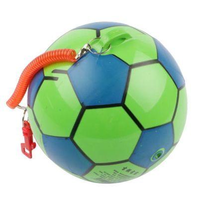 带拉绳足球弹簧链练习足球皮球手拍球带拉绳的弹力球幼儿园充气球