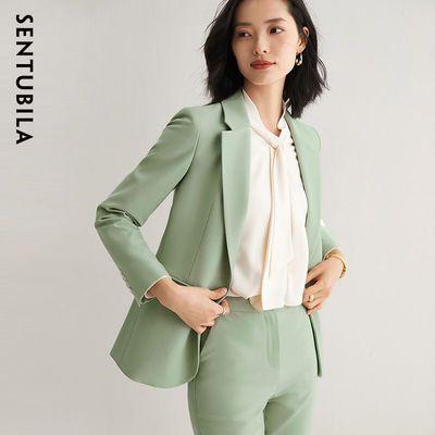 9939/【特卖直降】西装外套女质感梭织气质西服2021新款女装春装