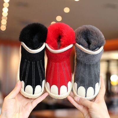 冬季新款男女童雪地靴加绒加厚防滑短靴中大童防水棉鞋亲子鞋
