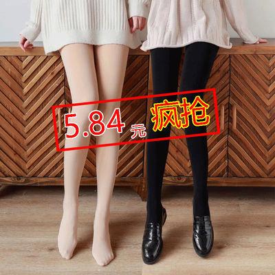 加绒加厚打底裤女外穿秋冬季光腿神器肉色高腰大码连裤袜保暖裤子