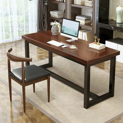 实木书桌简约办公工作台学生家用写字桌子学习桌书桌电脑台式桌