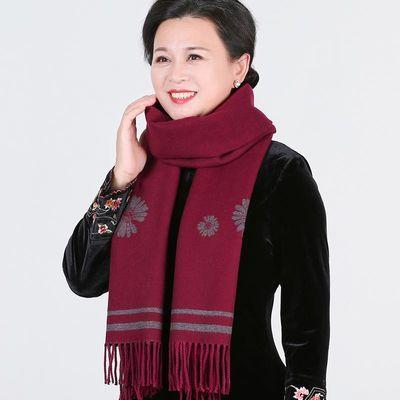 秋冬老人奶奶保暖围巾