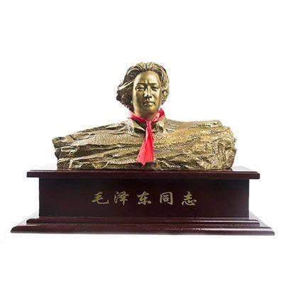 包邮毛主席铜像桌面办公室家居装饰礼品毛泽东橘子洲头人物青年像