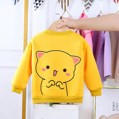 童装男童卫衣2020新款韩版潮装加绒加厚女童秋冬中小童保暖上衣潮