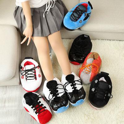 抖音恶搞胖aj棉鞋回到未来胖胖鞋网红椰子棉拖鞋冬季面包鞋居家鞋