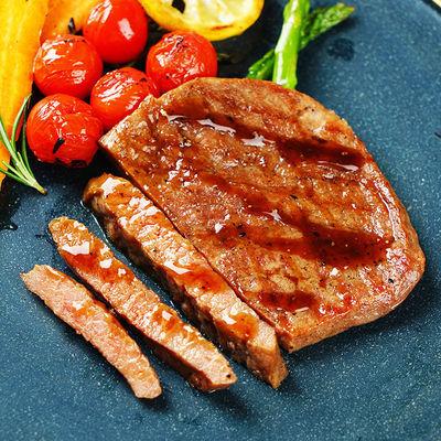 菲力牛排黑胡椒风味精调理牛排800g儿童营养早餐牛排送刀叉酱
