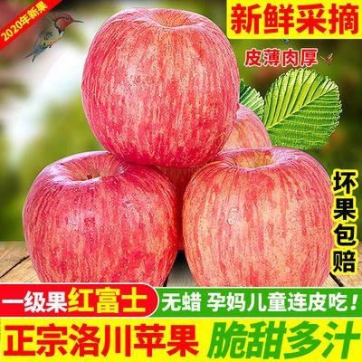 陕西洛川红富士苹果脆甜应季当季水果新鲜5斤/10斤装批发一整箱