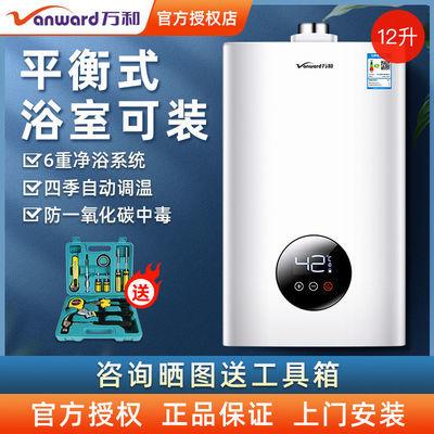 万和310W 12升天然气液化气煤气平衡式恒温家用浴室燃气热水器