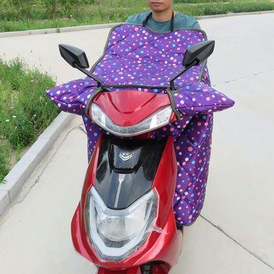 电动车挡风被冬季加绒加大加厚防水电摩托车三轮车护膝保暖挡风罩