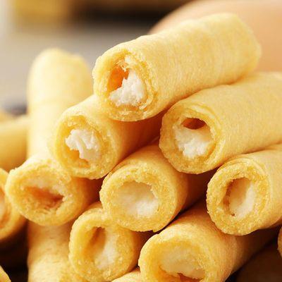 【独立包装】多口味手工芝士抹茶注心蛋卷食品膨化饼干零食