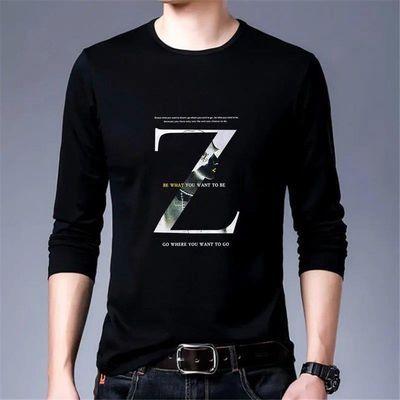 【亏本冲量】长袖t恤男士春秋季印花T恤上衣韩版潮流男装打底衫