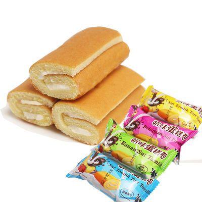瑞士卷10袋/120袋营养早餐蛋糕休闲零食奶味夹心蛋糕卷多口味混装