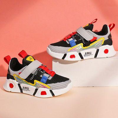春秋冬款男童鞋子中大童透气跑步鞋小童学生儿童小男孩防臭运动鞋