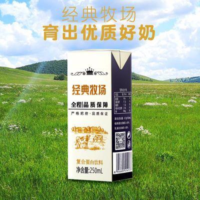 经典牧场复合蛋白牛奶饮品代餐奶早餐奶食品250ml/8/12/16盒整箱