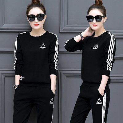 套装女春秋冬季新款韩版式运动服套装女装休闲长袖显瘦卫衣两件套