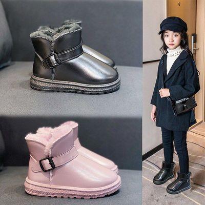 儿童雪地靴2020新款加绒加厚防水防滑冬季皮毛一体男女中大童棉靴