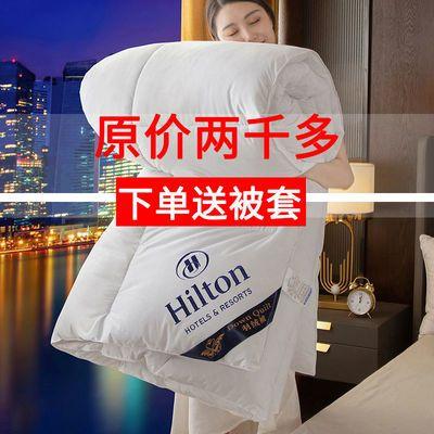 【送被套】羽绒被希尔顿酒店95白鹅绒被双人冬被春秋被单人被芯子