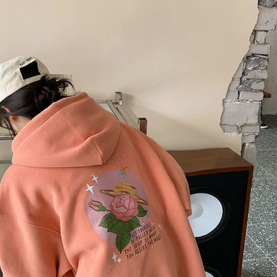 加绒加厚连帽卫衣女潮ins韩版宽松外套长袖套头上衣2020秋冬