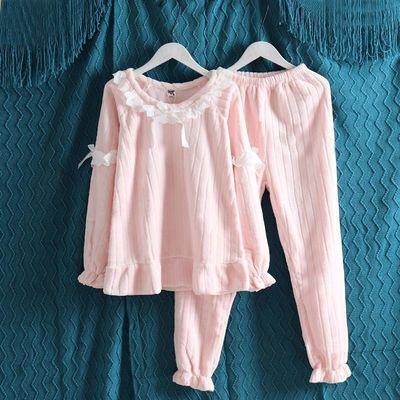 珊瑚绒睡衣女秋冬韩版学生可爱甜美法兰绒加厚春秋公主风冬季套装
