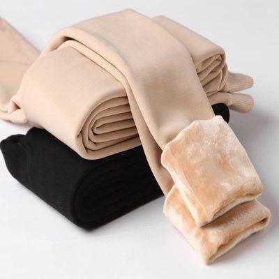秋冬季打底裤女肉色加绒加厚光腿高腰连裤袜显瘦腿保暖裤神器外穿