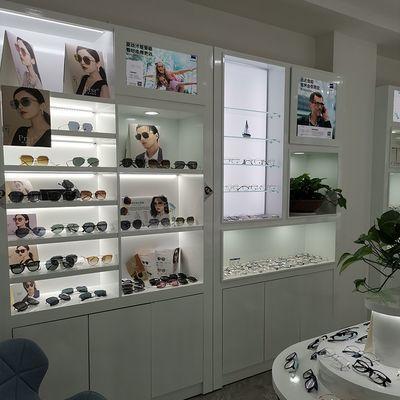 实木烤漆眼镜店展示柜 全店定制设计柜台眼镜柜台展柜眼镜货架