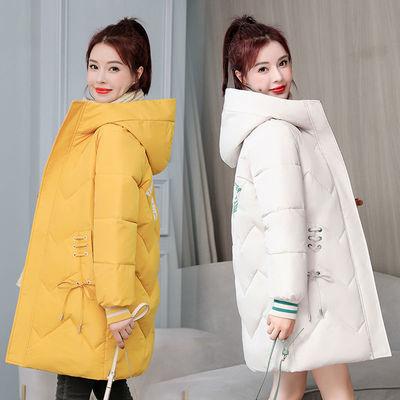 76179/羽绒棉面包服女中长款2021新款韩版棉袄时尚加厚棉衣宽松大码外套