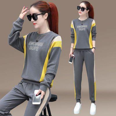 运动服休闲套装女2020春秋季新款卫衣时尚显瘦运动服两件套秋装潮