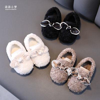 宝宝鞋子秋冬款女童毛毛鞋羊羔毛0一1-3岁婴儿棉鞋加绒保暖学步鞋