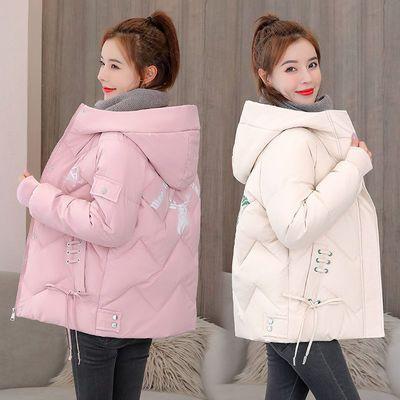 羽绒棉服女2020新款韩版冬季宽松短款棉衣刺绣面包服大码棉袄外套
