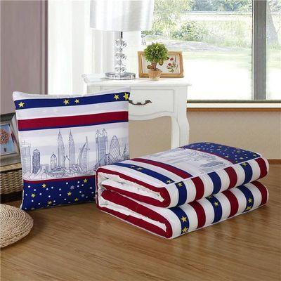 74453/午休折叠睡枕抱枕被空调被汽车靠枕沙发靠垫夏凉被空调被子两用枕